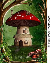 dwarf land 2 - a dwarf house hidden in the forest