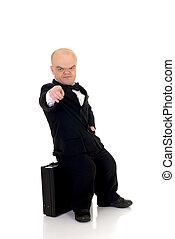 Dwarf, little businessman - Little businessman, dwarf in a ...
