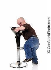 Dwarf, little man - Little man, dwarf having problem because...