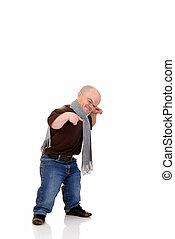 Dwarf, little man - Little man, dwarf in leisure clothing,...