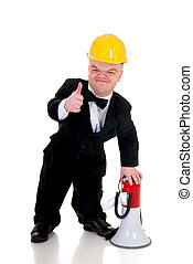 Dwarf, little man supervisor - Little man, dwarf ...