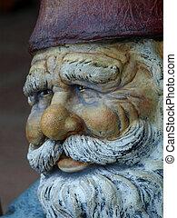 dwarf man\'s face - the face of a wise dwarf man