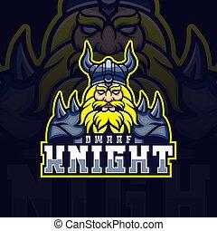 Dwarf night mascot esport logo