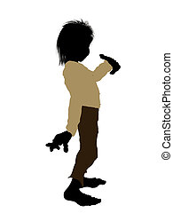 Dwarf Silhouette Illustration - Dwarf illustration...