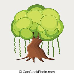 Dwarf Tree Vector