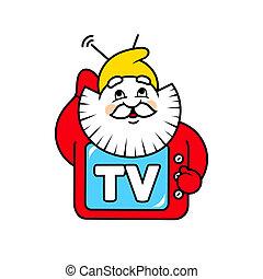 Dwarf TV sign - Branding identity corporate logo isolated on...