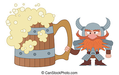 Dwarf with great beer mug