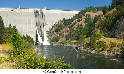 Dworshak Dam Concrete Gravity North Fork Clearwater River...