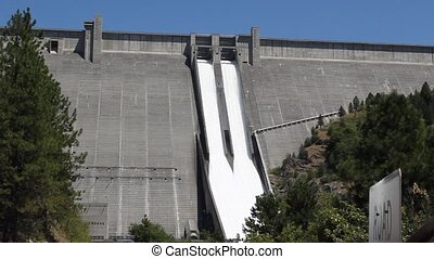 Dworshak Dam is a 717 foot high concrete structure and is the highest straight axis gravity dam in North America