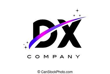 dx, d, x, pretas, letra, logotipo, desenho, com, roxo,...