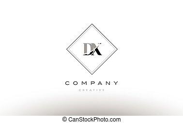 Dy D Y Retro Vintage Black White Alphabet Letter Logo Dy D Y