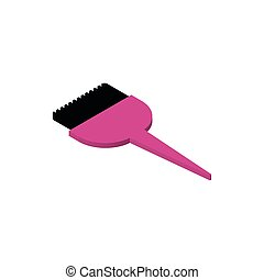 dye applicator brush makeup icon vector illustration design