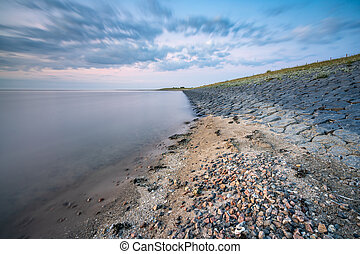 Dyke along the Wadden Sea coast  - The dyke that protects ...