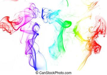 dym, barwny