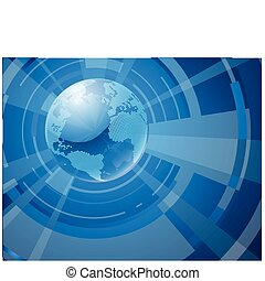 Dynamic 3d world globe background