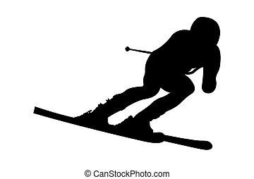 dynamic athlete skier