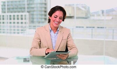 Dynamic attractive businesswoman