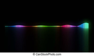Dynamic audio waveform, equalizer, 3d rendering computer generated background for nightclub creative