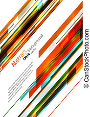 Dynamic bright diagonal stripes background. EPS10 vector.