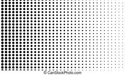 Dynamic black and white composition. Halftone element. 3d...