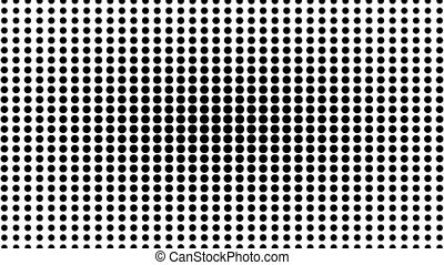 Dynamic black and white composition. Halftone element....