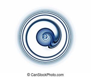 dynamic blue rotational motion