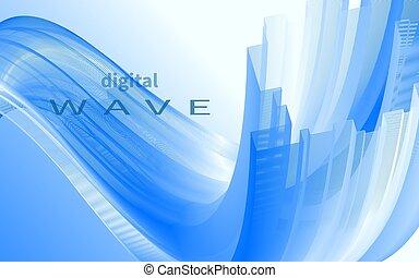 Dynamic blue wave