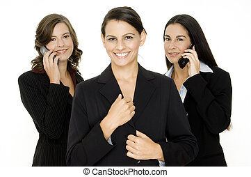 Dynamic Business Team - A small business team of three...