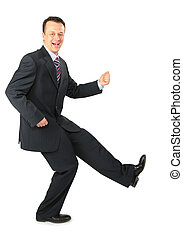 dynamic businessman in black suit