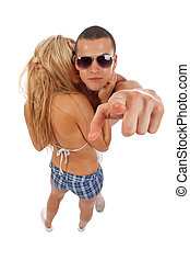 dynamic, casual young couple - dynamic picture of a casual ...