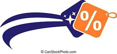 Dynamic Discount Logo Design Template Vector