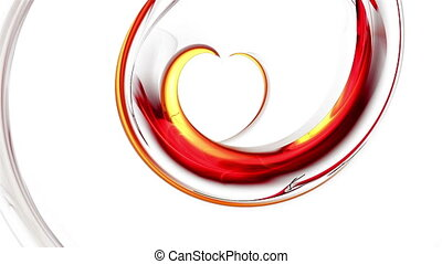 Dynamic Fiery Red Heart - Abstract blazing red heart forming...