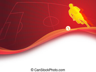 Dynamic football background
