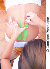 dynamic functional bandage with taping