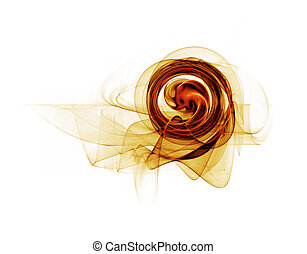 dynamic golden circular motion, abstract background on white