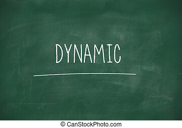 Dynamic handwritten on blackboard
