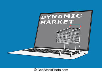 Dynamic Marketing concept