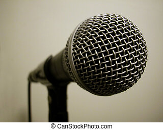 Dynamic Microphone - Dynamic microphone on stand - standard...