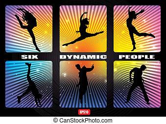 dynamic people banner set