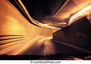 Dynamic photo of a tunnel