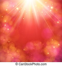 Dynamic red abstract background with sunburst