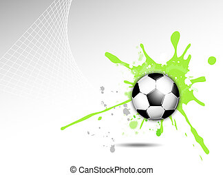 Dynamic sports background - Soccer ball background with...