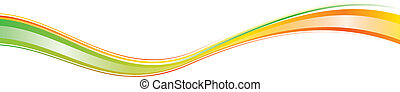 Dynamic Wave - Bow in rainbow colors symbolizes full energy...