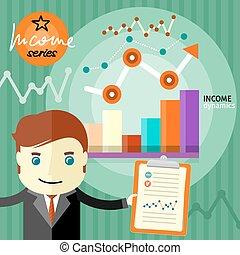 dynamica, concept, inkomen