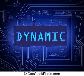 dynamický, concept., tech
