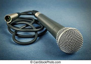 dynamiczny, mikrofon, klasyk