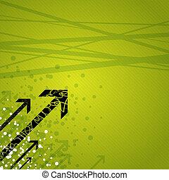 dynamik, pile, på, grønne