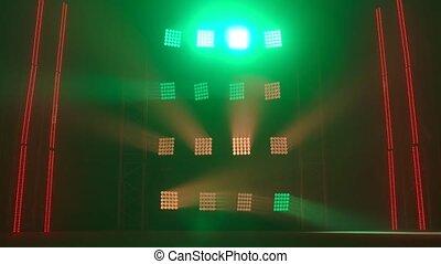 dynamique, lumière, equipment., effects., éclairage