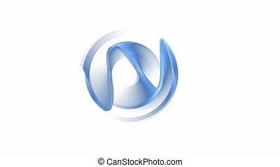 dynamique, rotation, bleu, mouvement