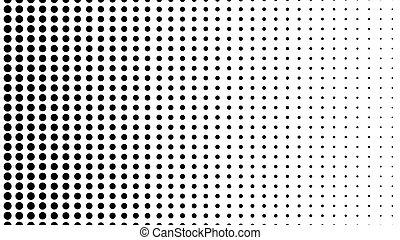 dynamisch, schwarz weiß, composition., halftone, element